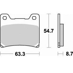 BRAKING Тормозные колодки BR 661SM1