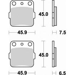 BRAKING Тормозные колодки BR 686CM44