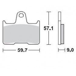 BRAKING Тормозные колодки BR 875SM1