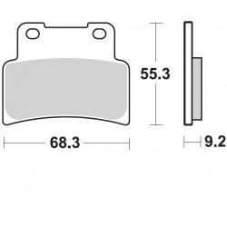 BRAKING Тормозные колодки BR 933SM1