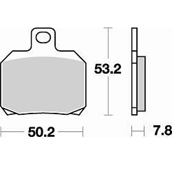 BRAKING Тормозные колодки BR 828SM1
