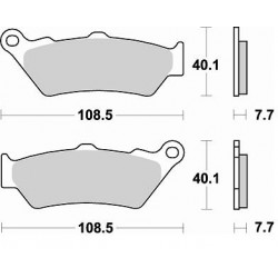 BRAKING Тормозные колодки BR 780CM55