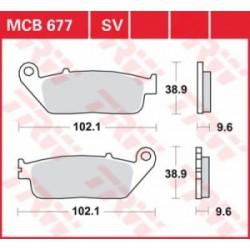 TRW / LUCAS Тормозные колодки LUCAS MCB 677