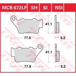 TRW / LUCAS Тормозные колодки LUCAS MCB 672 EC