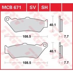 TRW / LUCAS Тормозные колодки LUCAS MCB 671