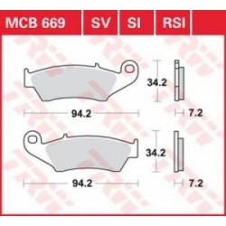 TRW / LUCAS Тормозные колодки LUCAS MCB 669