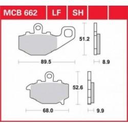 TRW / LUCAS Тормозные колодки LUCAS MCB 662