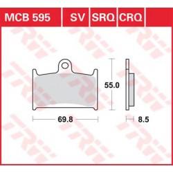 TRW / LUCAS Тормозные колодки LUCAS MCB 595