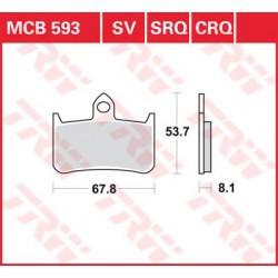 TRW / LUCAS Тормозные колодки LUCAS MCB 593