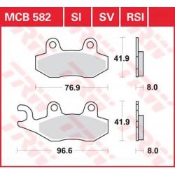 TRW / LUCAS Тормозные колодки LUCAS MCB 582