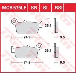 TRW / LUCAS Тормозные колодки LUCAS MC B 575