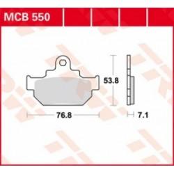 TRW / LUCAS Тормозные колодки LUCAS MCB 550