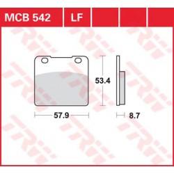 TRW / LUCAS Тормозные колодки LUCAS MCB 542