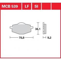TRW / LUCAS Тормозные колодки LUCAS MCB 539