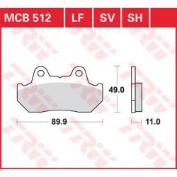 TRW / LUCAS Тормозные колодки LUCAS MCB 512