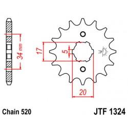 Звезда передняя JTF1324.14 (Geon CR6)