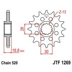 Звезда передняя JT JTF1269.16
