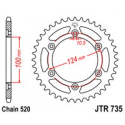 JT JTR735.48 Звезда задняя