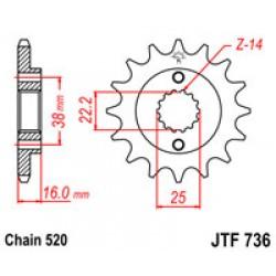 JT JTF736.15 Звезда передняя
