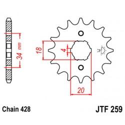 Ведущая звезда JTF 259-14 14зубов ZONGSHEN (zs200gs / zs200n / zs125j / v200cr)