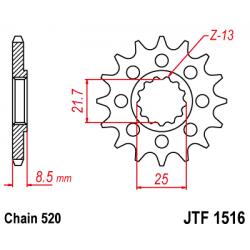 JT JTF 1516.15 Звезда передняя
